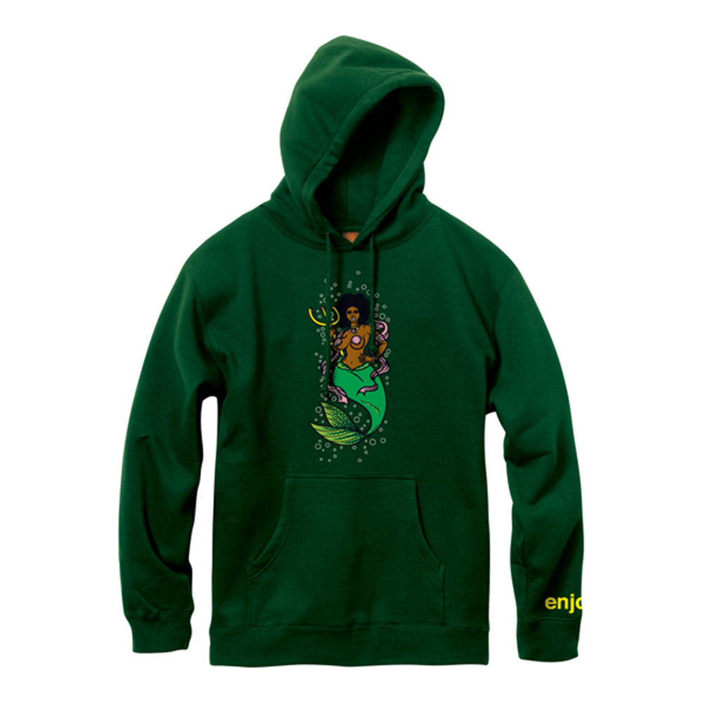 Enjoi Mermaid P/O Hooded Sweatshirt - Forest Green