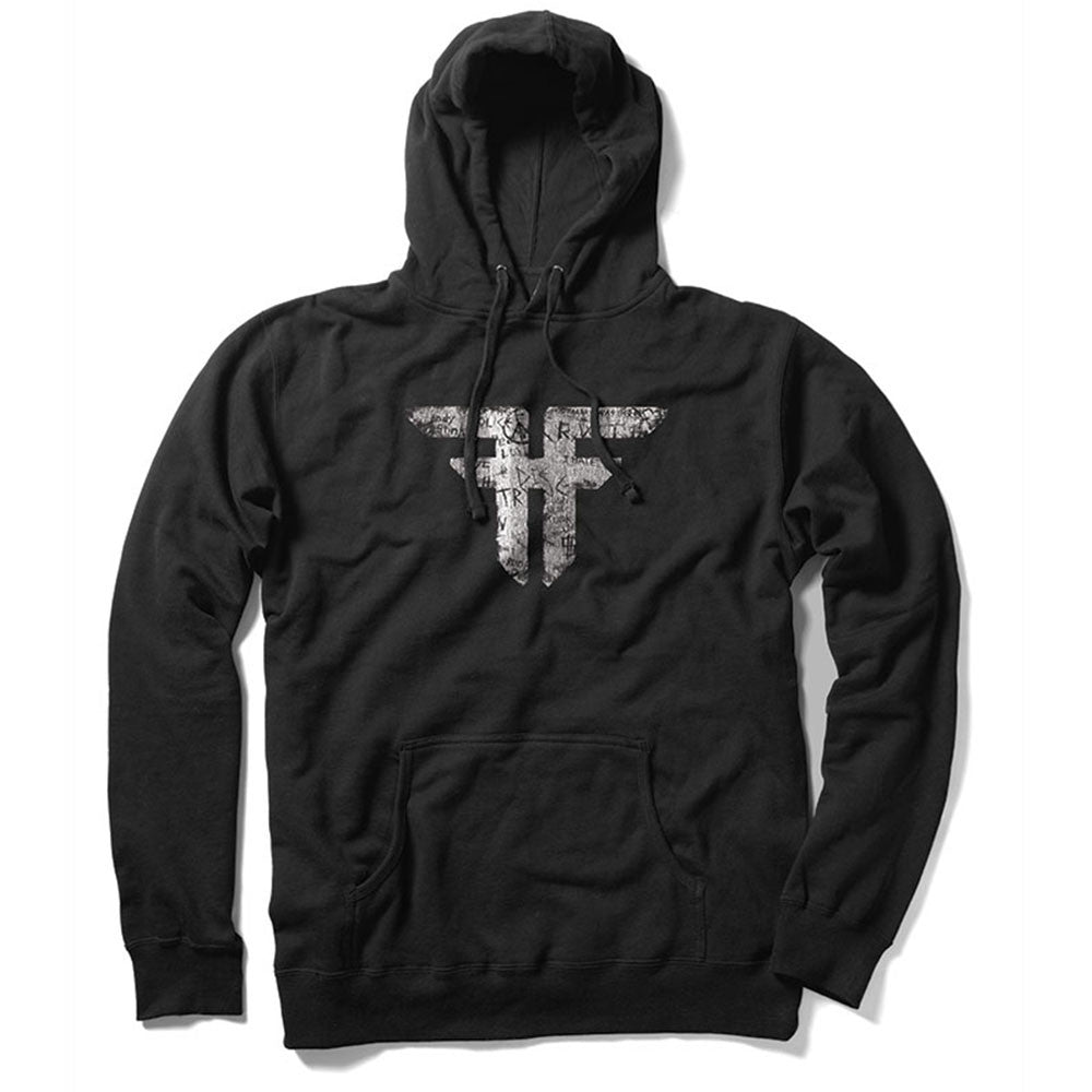 Fallen Trademark Pullover Hooded Men's Sweatshirt - Black/Vandal