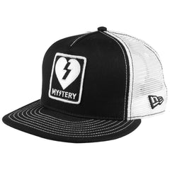 Mystery Patch New Era Mesh Snapback - Black/White - Men's Hat
