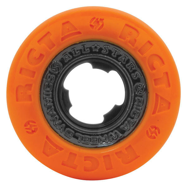 Ricta Chrome Core - Orange/Black - 52mm 81b - Skateboard Wheels (Set of 4)