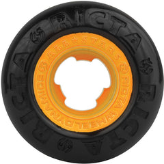 Ricta Chrome Core - Black/Orange - 53mm 81b - Skateboard Wheels (Set of 4)