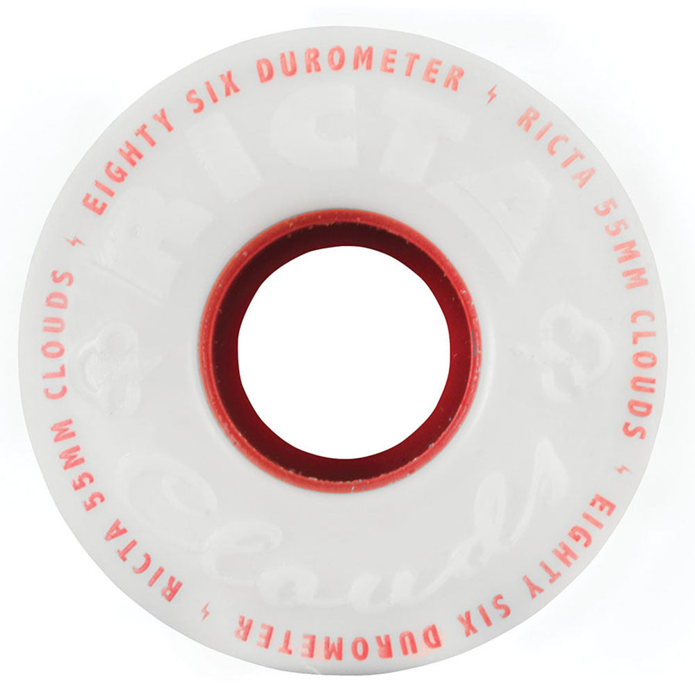 Ricta Clouds Skateboard Wheels - 55mm 86a - Red (Set of 4)