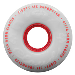 Ricta Clouds Skateboard Wheels - 58mm 86a - Red (Set of 4)