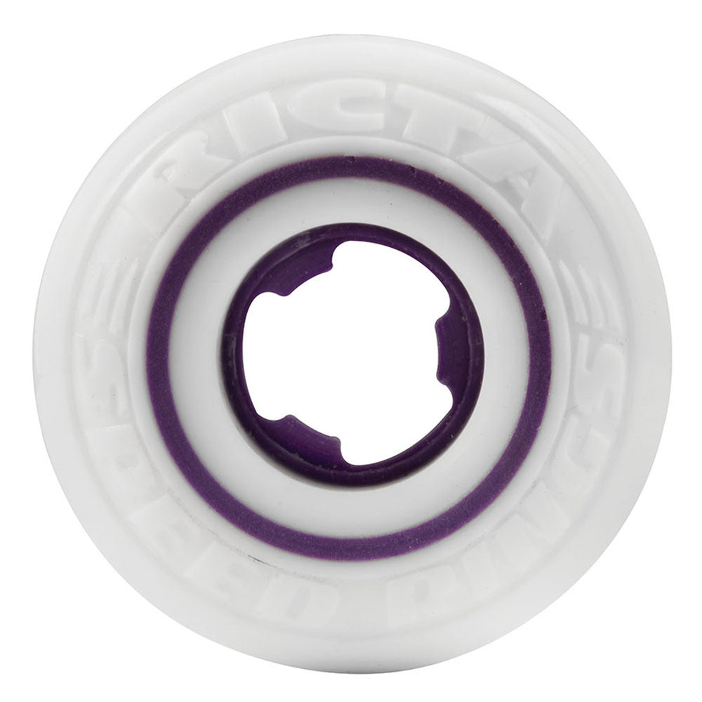 Ricta Louie Lopez Speedrings Skateboard Wheels - 52mm 81b - White/Violet (Set of 4)