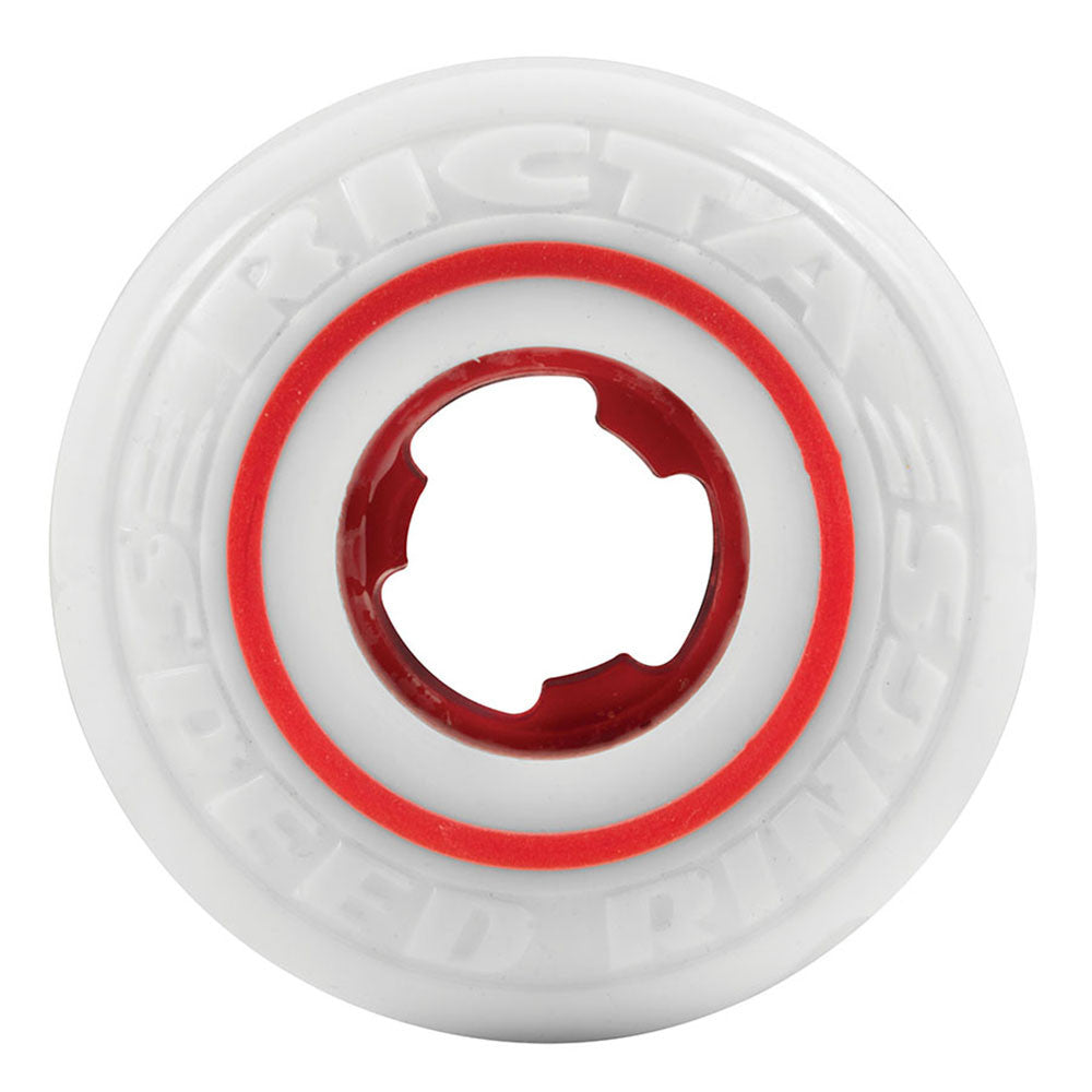 Ricta Tommy Sandoval Speedrings Skateboard Wheels - 52mm 81b - White/Red (Set of 4)