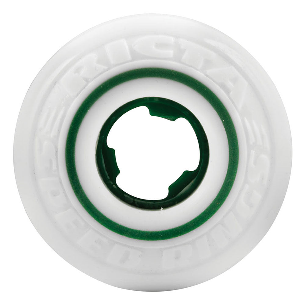 Ricta Curren Caples Pro Speedrings Skateboard Wheels - 53mm 81b - White/Green (Set of 4)