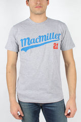Mac Miller Band 21 Baseball Script T-Shirt - Heather Grey