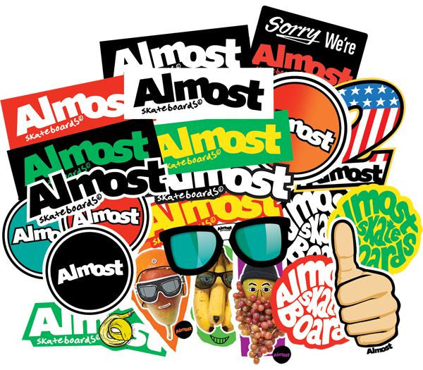 Almost Bar Logo Stickers - 25 Pack