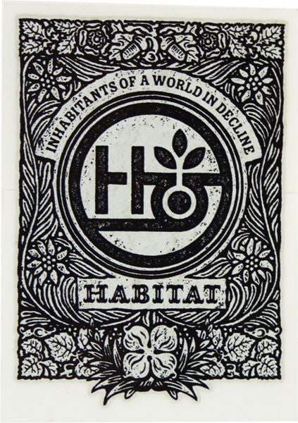 Habitat Inscription Sticker