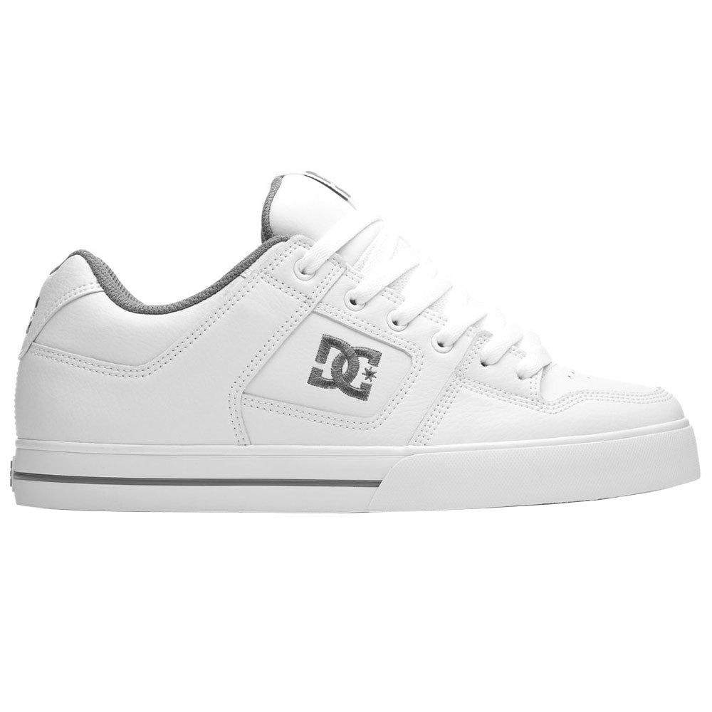 DC Pure Men's Skateboard Shoes - White/Battleship/White HBW
