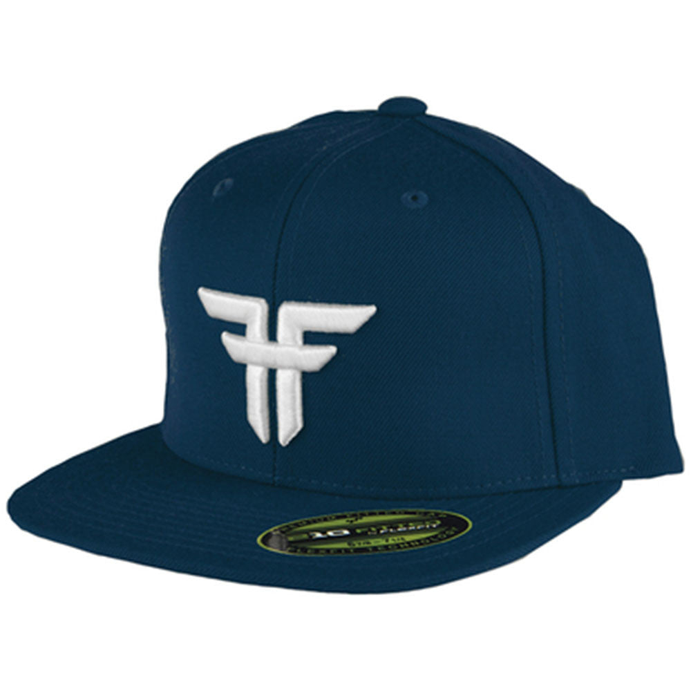 Fallen Trademark 210 Flex Fit Men's Hat - Midnight Blue/White