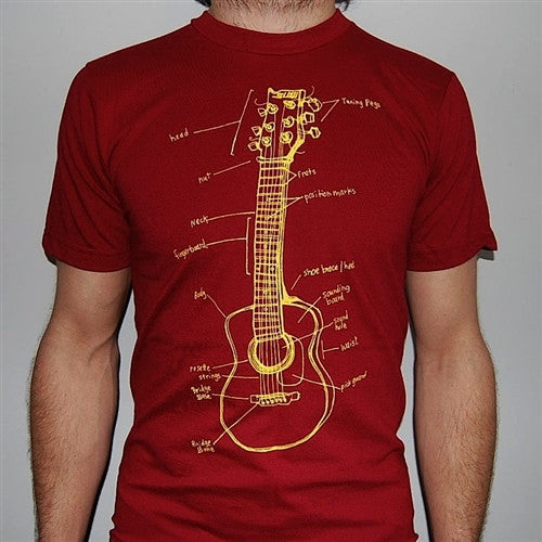 Slow Loris Guitar Lessons T-Shirt - Red - Mens T-Shirt