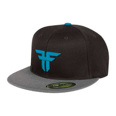 Fallen Trademark 210 Flex Fit - Black/Grey/Puerto Blue - Men's Hat