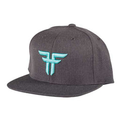 Fallen Trademark Starter Cap - Snapback - Heather Charcoal/Afterburn - Men's Hat