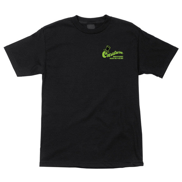 Creature Drinking Club Regular S/S T-Shirt - Black