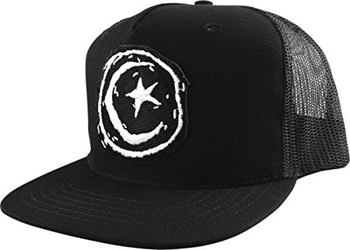 Foundation Star & Moon Patch Mesh Men's Hat - Black