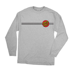 Santa Cruz Classic Dot Regular L/S - Athletic Heather - Men's T-Shirt