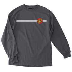 Santa Cruz Classic Dot Regular L/S - Charcoal - Men's T-Shirt