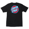 Santa Cruz Shock Dot Regular S/S Mens T-Shirt - Black