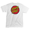 Santa Cruz Shock Dot Regular S/S Mens T-Shirt - White