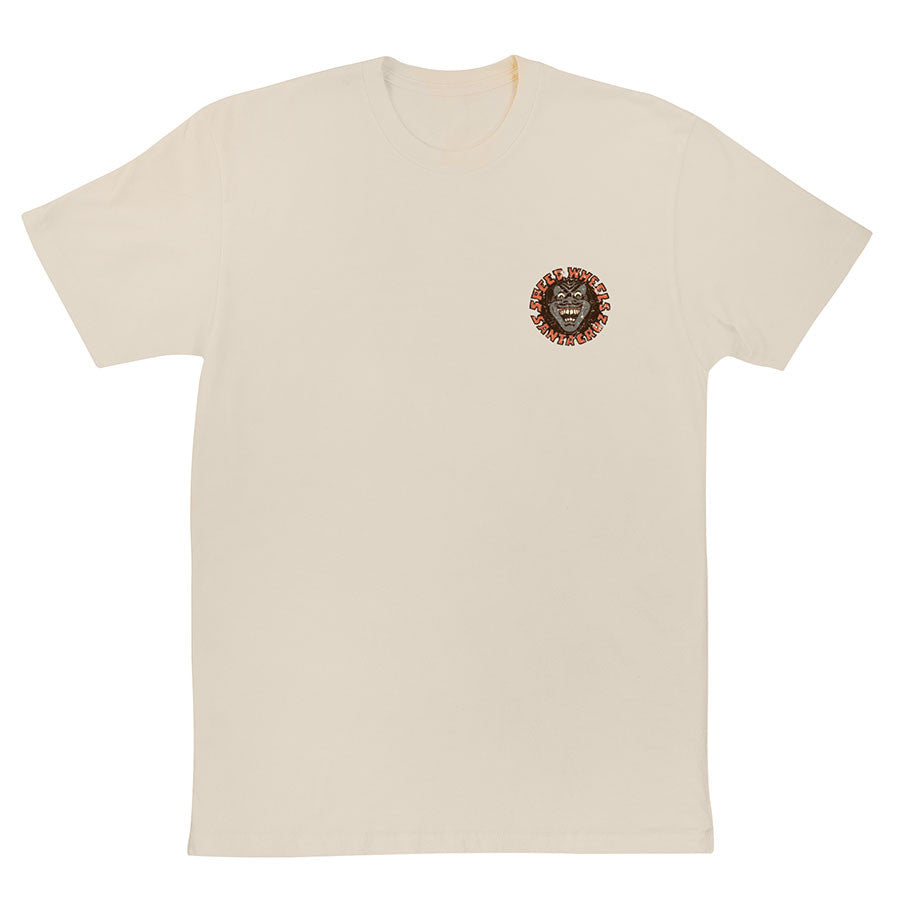 Santa Cruz Vintage Screaming Hand Regular S/S - Natural - Men's T-Shirt