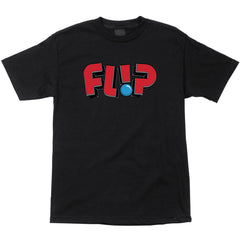 Flip Jumbled Regular S/S Men's Shirt - Black