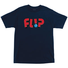 Flip Jumbled Regular S/S Men's Shirt - Midnight Navy