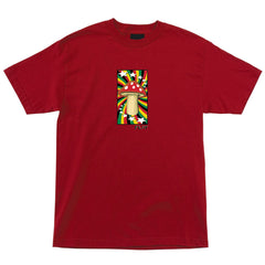 Flip Rasta Shroom Regular S/S Men's Shirt - Cardinal
