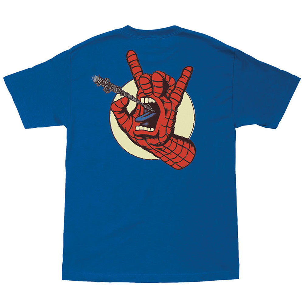 Santa Cruz Marvel Spiderman Hand Regular S/S Mens T-Shirt - Royal Blue