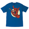 Santa Cruz Marvel Spiderman Hand Regular S/S Youth Mens T-Shirt - Royal Blue
