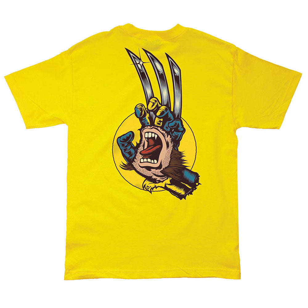 Santa Cruz Marvel Wolverine Hand Regular S/S Mens T-Shirt - Yellow