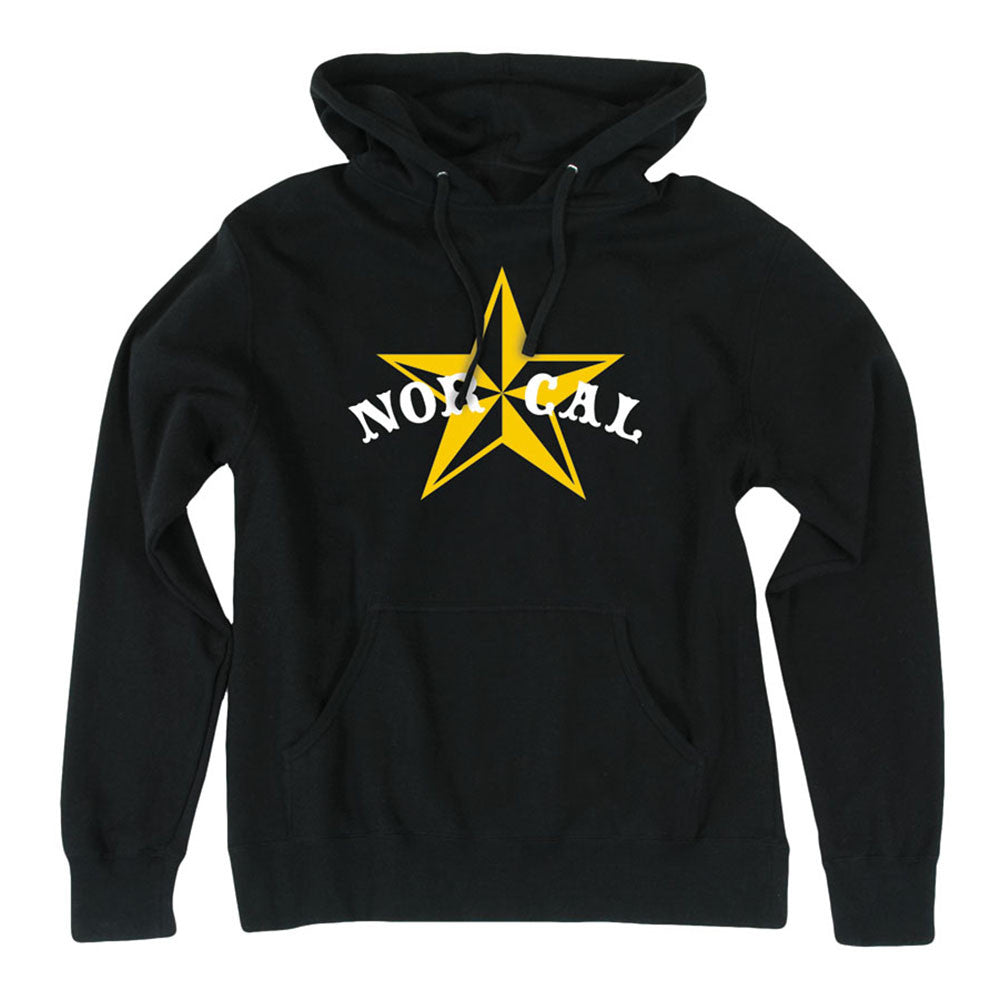 Nor Cal Nautical 2 Pullover Hooded L/S Mens Sweatshirt - Black