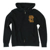 Santa Cruz SC Block Hooded Zip L/S Mens Sweatshirt - Black