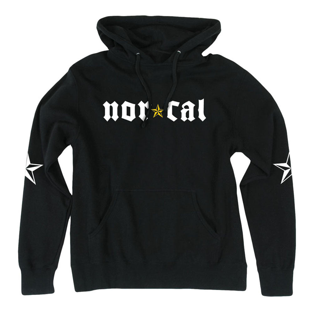Nor Cal Medieval Pullover Hooded L/S Mens Sweatshirt - Black