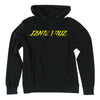 Santa Cruz Shock Dot Pullover Hooded L/S Mens Sweatshirt - Black