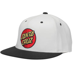 Santa Cruz Classic Dot Flexfit Fitted Stretch Hat Mens Hat - Off White/Black