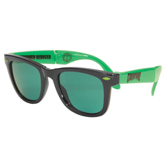 Creature Party First - Folding Sunglasses - OS Unisex - Black/Green