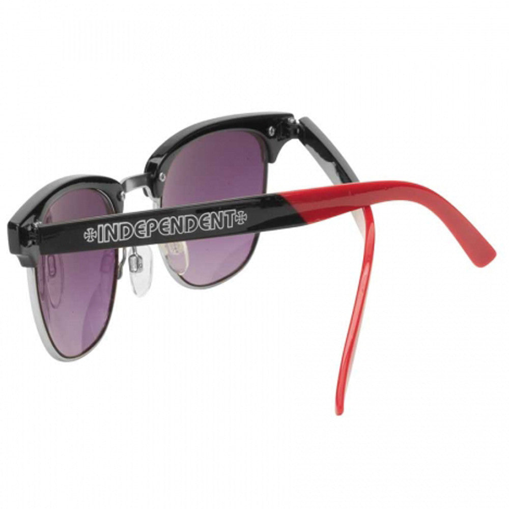 Independent Prep Metal Rim O/S Sunglasses - Red/Black