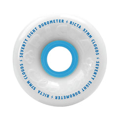 Ricta Clouds Skateboard Wheels 57mm 78a - White (Set of 4)
