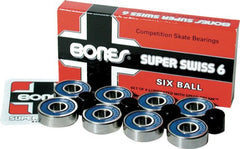 Bones Super Swiss 6 Competition Skateboard Bearings (8 PC)