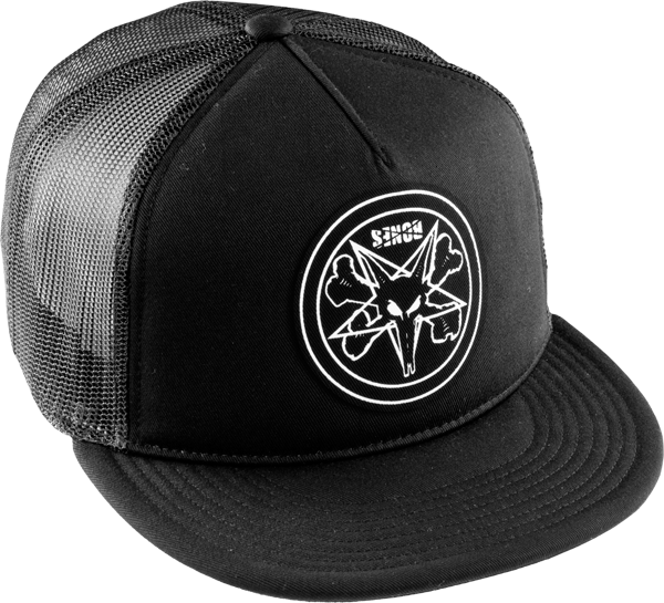 Bones Pentagram Men's Hat - Black