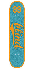 Blind Athletic Skin SS Skateboard Deck - 7.75 - Teal/Orange