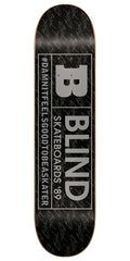 Blind Rated B SS 15/30 Skateboard Deck - 7.5 - Black/Silver