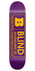 Blind Rated B SS 15/30 Skateboard Deck - 7.75 - Purple/Yellow