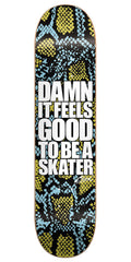 Blind Damn Snake Skin SS 20/40 Skateboard Deck - 8.0 - Blue/Gold