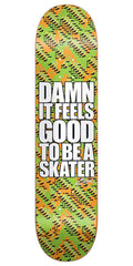 Blind Damn Glitch SS Skateboard Deck - Orange/Green - 8.25