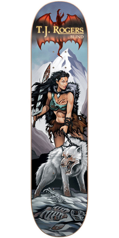 Blind TJ Rogers White Wolf R7 Skateboard Deck - Multi - 8.0