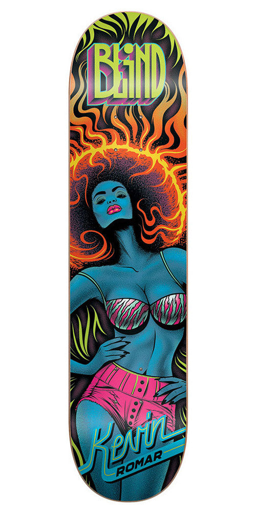 Blind Kevin Romar Blacklight R7 Skateboard Deck - Multi - 7.75
