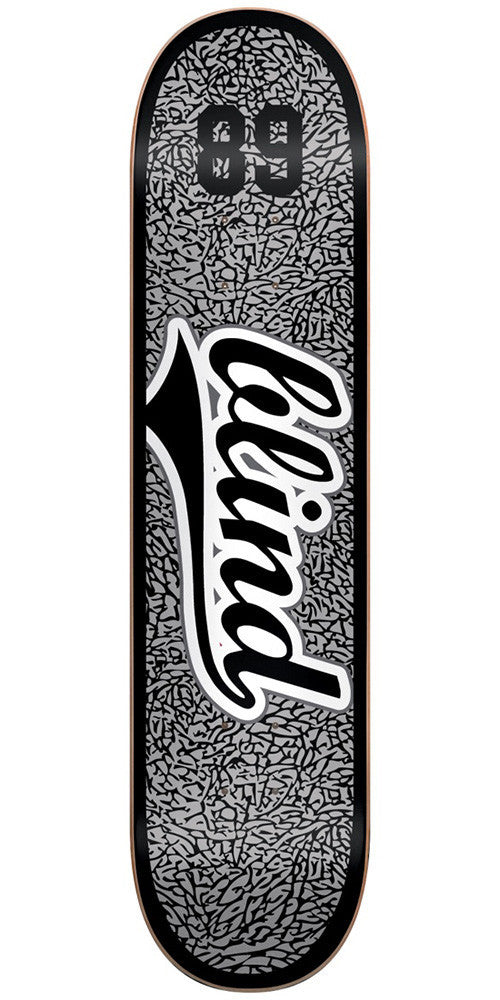 Blind Athletic Skin SS Skateboard Deck - Grey/Black - 8.375in