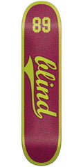 Blind Athletic Skin SS Skateboard Deck - Plum - 7.75in